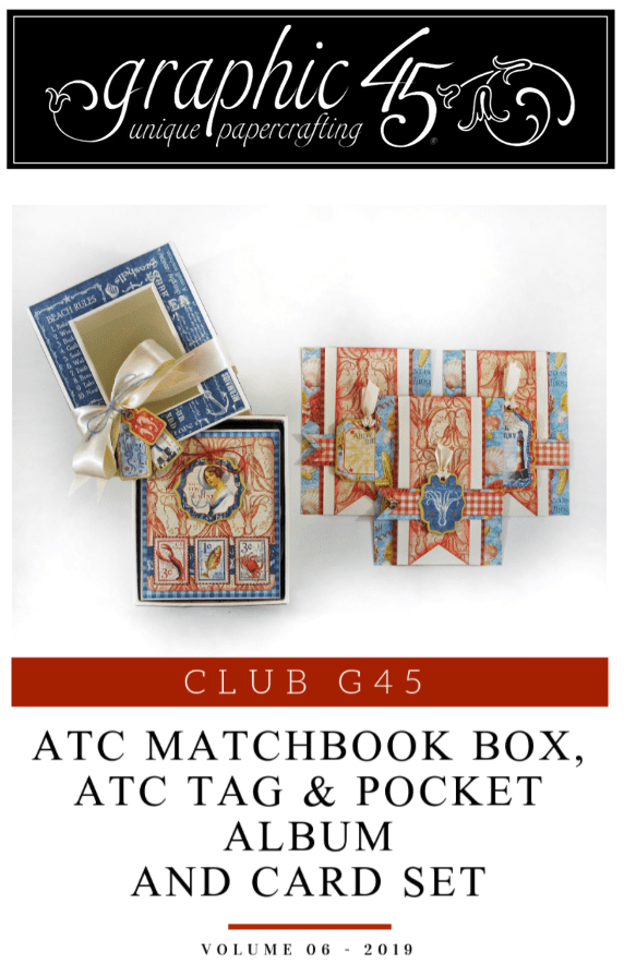 Graphic 45: By the Sea – Nesting Mini Album, Matchbook Box & Cards