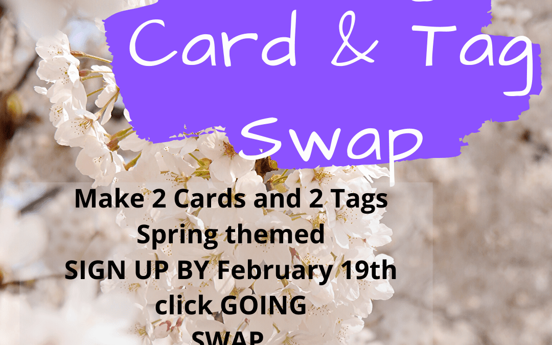 Spring Card & Tag Swap