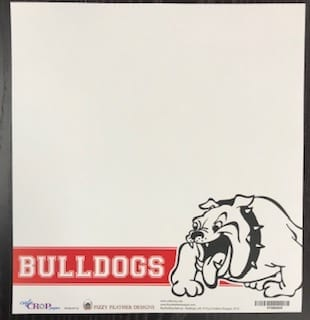 48031631f Bulldogs banner – right side bulldog 12×12 | Cafe Crop