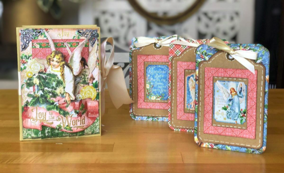 Graphic 45 Christmas Angel Box and Cards